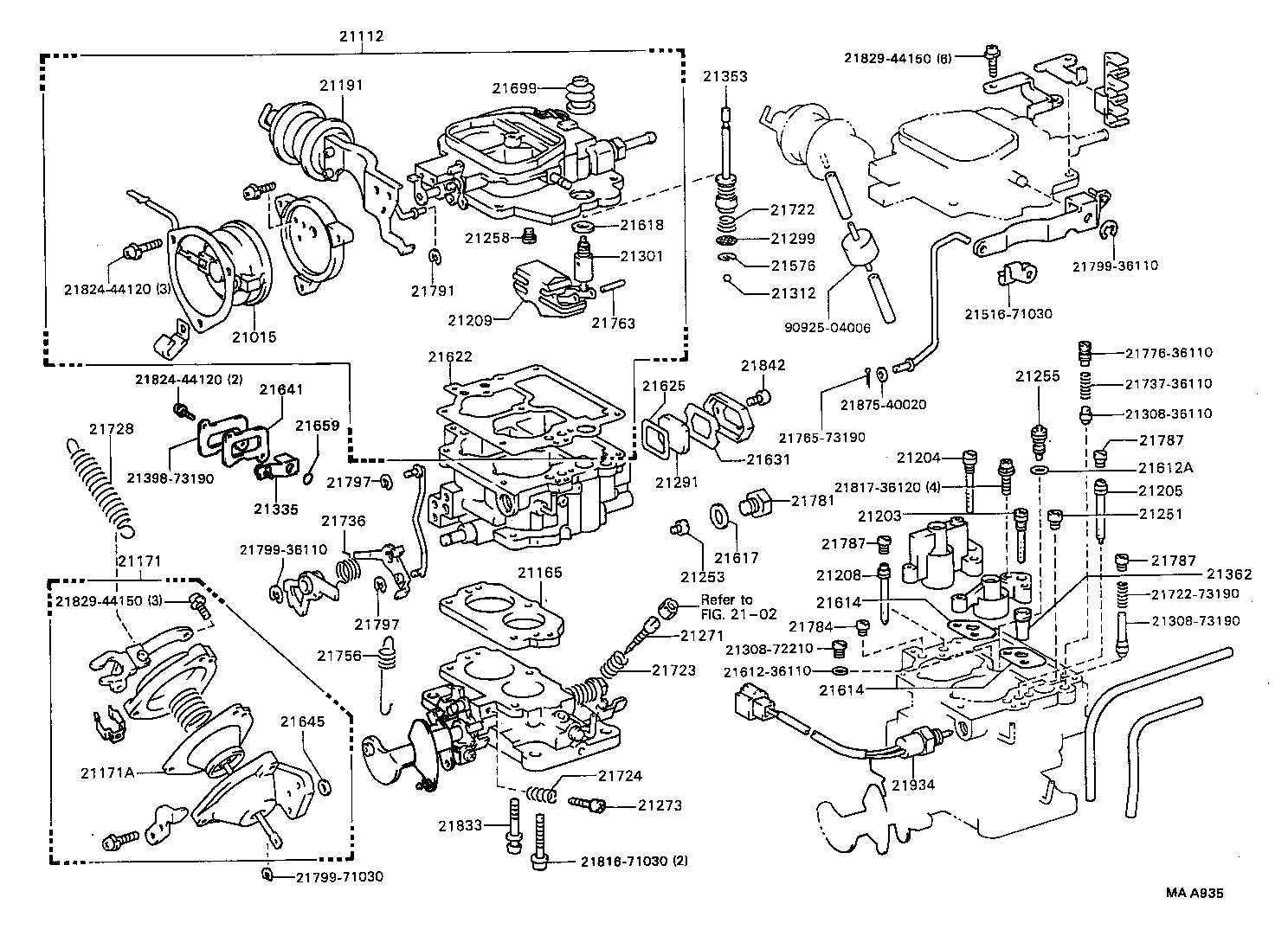 Toyota Corolla Carburetor Vacuum Diagram