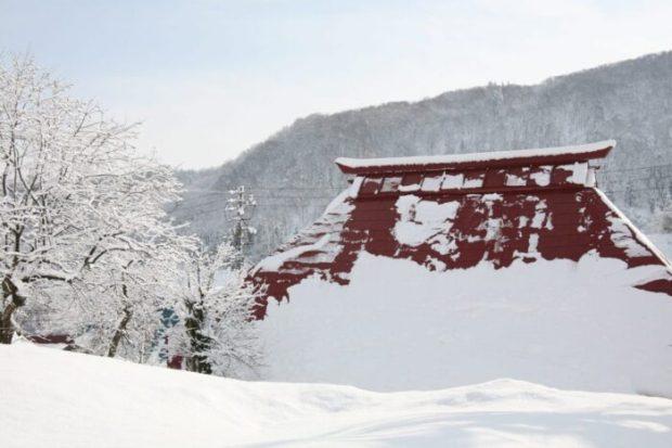 豪雪地帯の家
