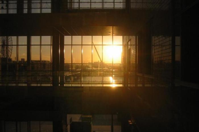 日本の夕方の風景