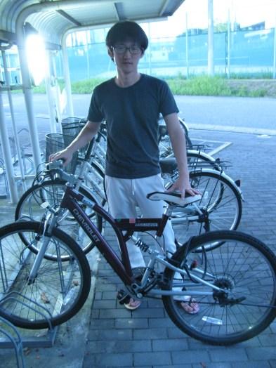 Kim and his chevrolet bike