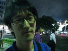 Kim's tired face when we arrived in Sakae