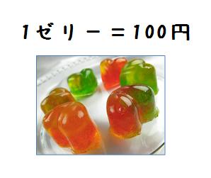 ゼリー100円