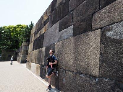 Obzidje cesarjevih vrtov in palače.