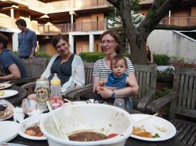 Naša nosečka Charlene, Tina in Yan.