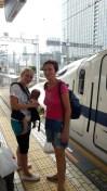 Shinkansen, na poti v Kyoto. :D
