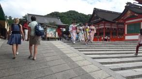 Japonke v yukati, Kyoto.