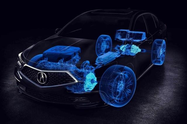 2019 Acura RLX Hybrid engine