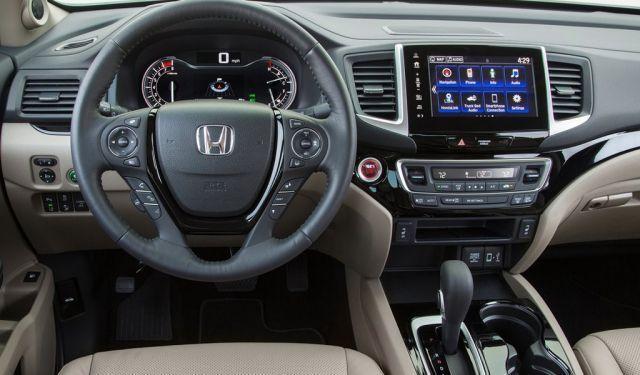 2020 Honda Ridgeline Black Edition interior