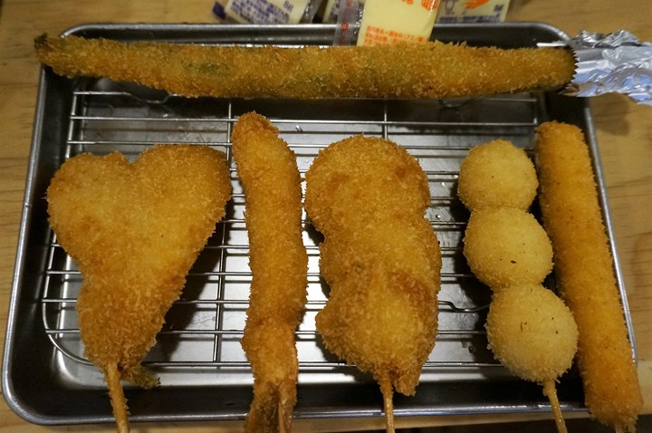 Kushikatsu 串カツ Deep-Fried Food on a Skewer