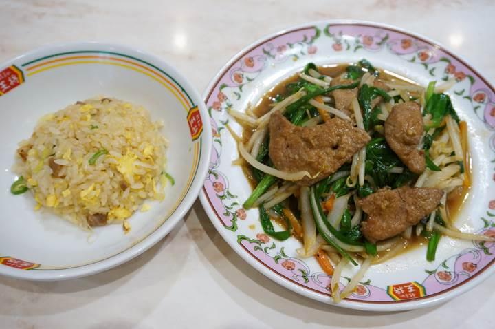 Gyoza OHSHO 餃子の王将 Pork Fried Rice 炒飯 Sauteed Pork Liver and Garlic Chives ニラレバ炒め