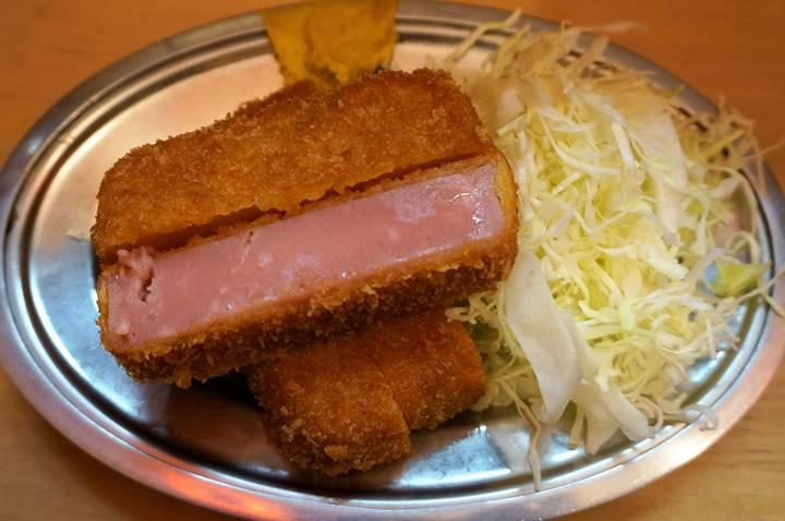 Banpaiya 晩杯屋 Deep fried breaded thick ham 極厚ハムカツ
