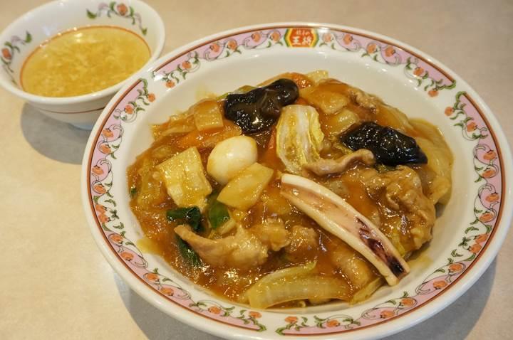 Gyoza OHSHO 餃子の王将 - Cantonese-style Eight Treasure Stir-fry on Rice 中華飯