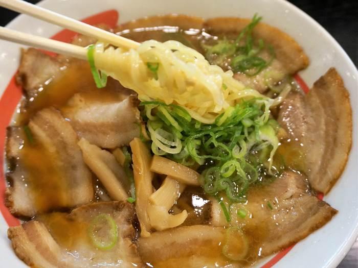Soy Sauce Ramen Topped with 10 Sliced Pork 豚バラチャーシューめん Kourakuen 幸楽苑