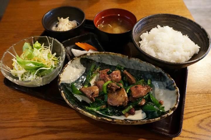 究極のレバにら定食 - ここのつ / Sauteed Chicken Liver & Chive Set Meal - KOKONOTSU