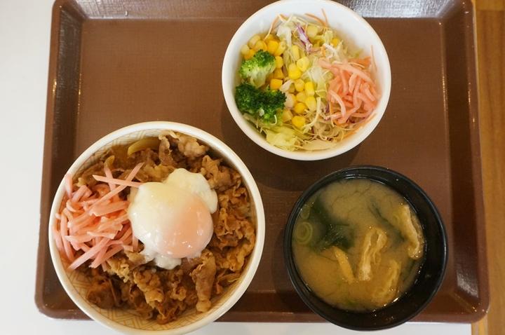 11:00 - 14:00 Gyudon (Beef Bowl) Medium Lunch Set 牛丼並盛ランチセット - SUKIYA すき家