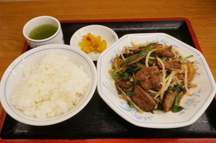 Stir Fried Pork Liver and Garlic Chives Set Meal レバニラ炒め定食 - Fukushin 福しん