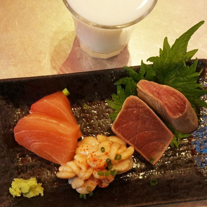 3 Kinds of Today's Special of UOKUSA in Ueno Tokyo 東京 上野 魚草 本日のあて3種盛り