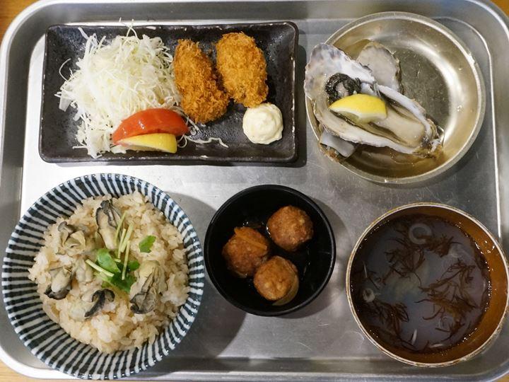 Lunch Menu - Oyster Izakaya Restaurant TOBIUME かき小屋 飛梅 神田西口店 ランチ かき飯DXセット
