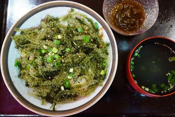Umibudo Green Caviar Sea Grapes Okinawan Cuisine MIYARABI 沖縄宮廷 琉球料理 みやらび 海ぶどう丼