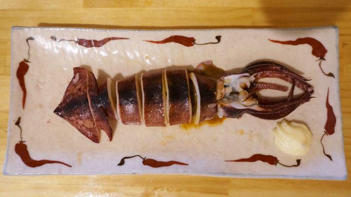 Grilled Squid するめイカ姿焼 - Standing Bar KAMIYA 立ち呑み かみや