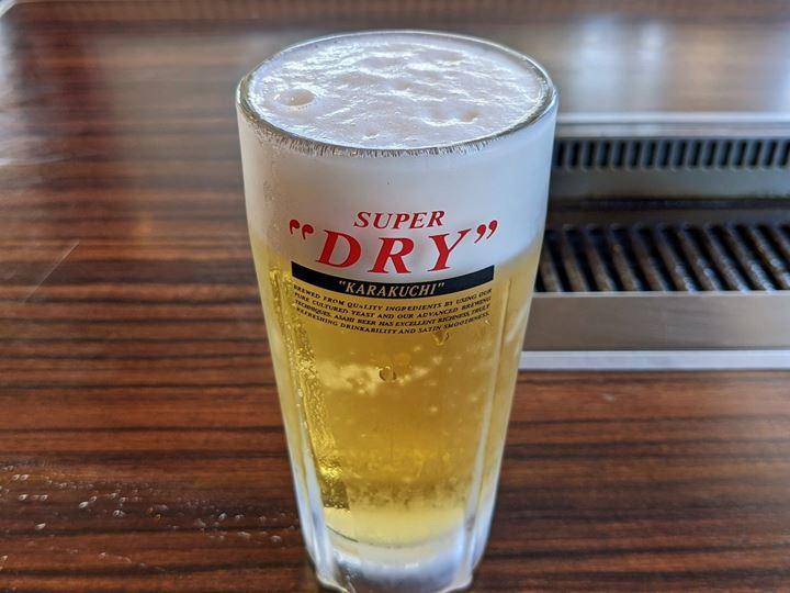 Draft Beer 生ビール中 - Boneless Beef Short Rib Lunch Set Meal 2.82oz - 焼肉 安楽亭 Yakiniku ANRAKUTEI