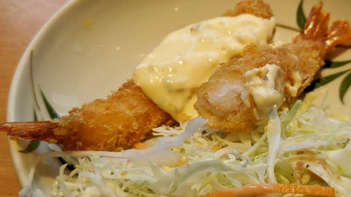 Deep Fried Prawns エビフライ - やよい軒 JAPANESE TEISHOKU RESTAURANT YAYOI
