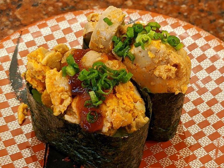 Monkfish Liver Sushi あん肝軍艦 CHOUSHIMARU すし 銚子丸 - 回転寿司 鮨