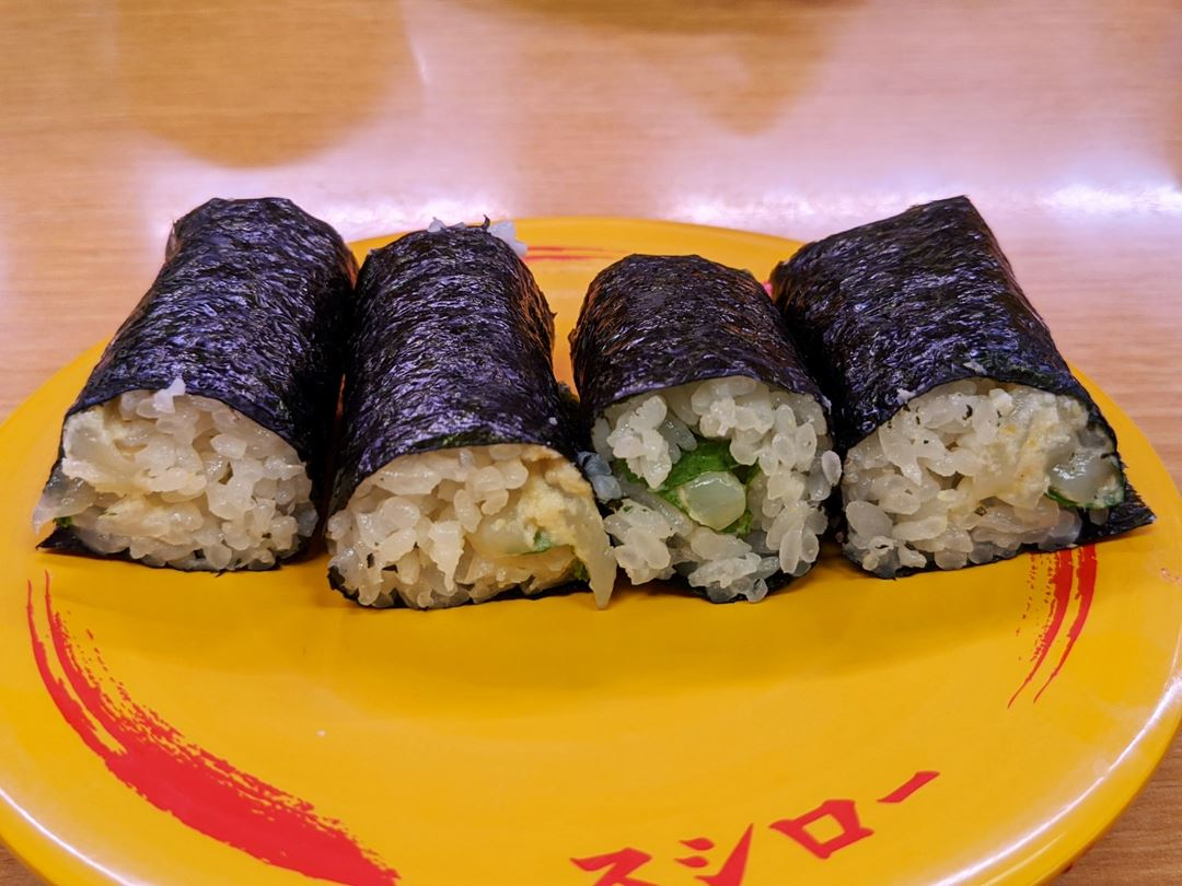 SUSHIRO スシロー Squid Rolled with Wasabi いか涙巻き