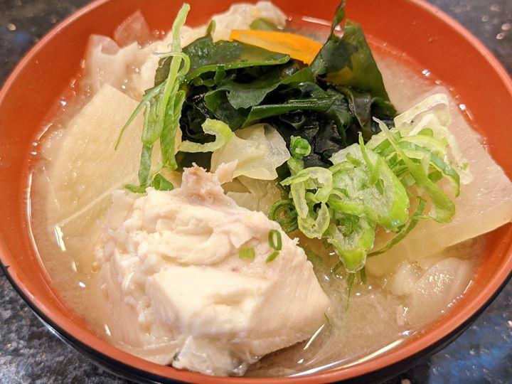 Fisherman's-style Fish Miso Soup (Lunch) ランチあら汁 - Sushi CHOUSHIMARU すし 銚子丸 - 回転寿司 鮨 味噌