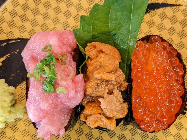 KIWAMI 3-Piece Set 極3カン Sushi CHOUSHIMARU すし 銚子丸 - 回転寿司 鮨