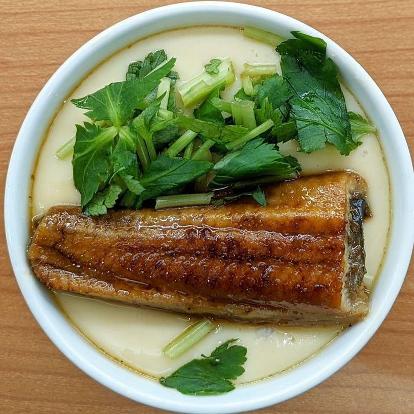 Steamed Egg Custard with Unagi Eel【極み】うなぎの茶碗蒸し Conveyor Belt Sushi Restaurant (Sushi Go Round) KURASUSHI くら寿司