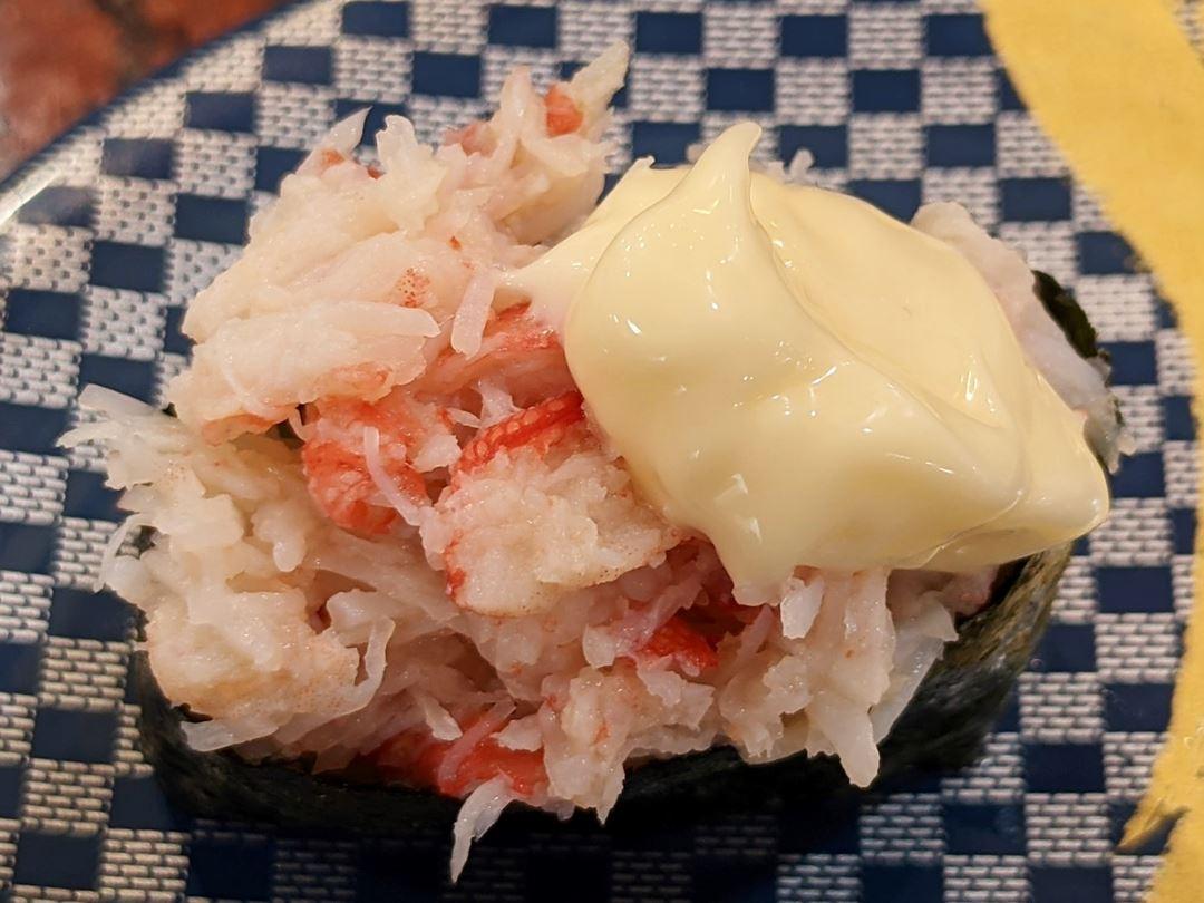 Crab Meat かに身軍艦 - Sushi CHOUSHIMARU すし 銚子丸 - 回転寿司 鮨