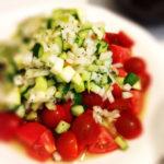 トマトのオニオンビネガーサラダ