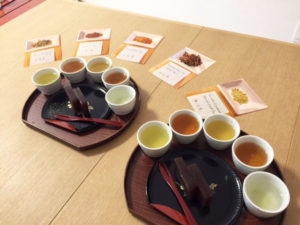 日本茶試飲シーン