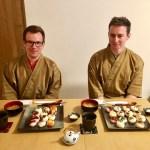 ゲスト、寿司とともに