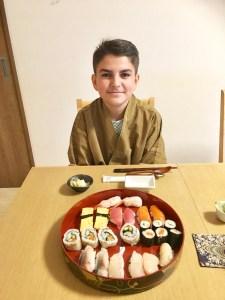 ゲストと寿司