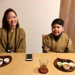 日本茶試飲と和菓子タイム