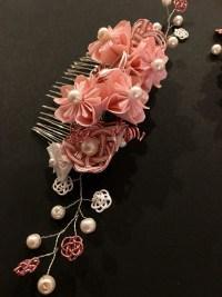 立体桜のかんざし