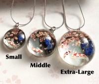 クリスタルガラス錦鯉と桜とパワーストーンジュエリー