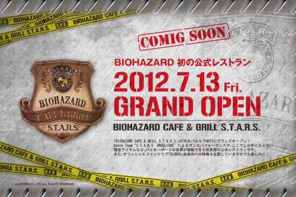 Shibuya To Get Resident Evil Cafe & Grill Next Month