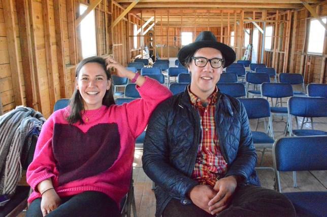 Photo of Julian Saporiti and Erin Aoyama.