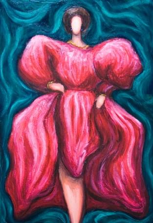 Woman Pink Debutante
