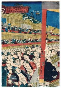 Sumo Spectators 1853