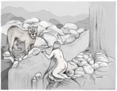 WP#208 Lion & Gazelle