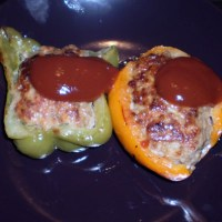 Piman Nikuzume: Bell Peppers stuffed with Meat