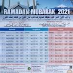 Ramadan calendar For Tokyo area