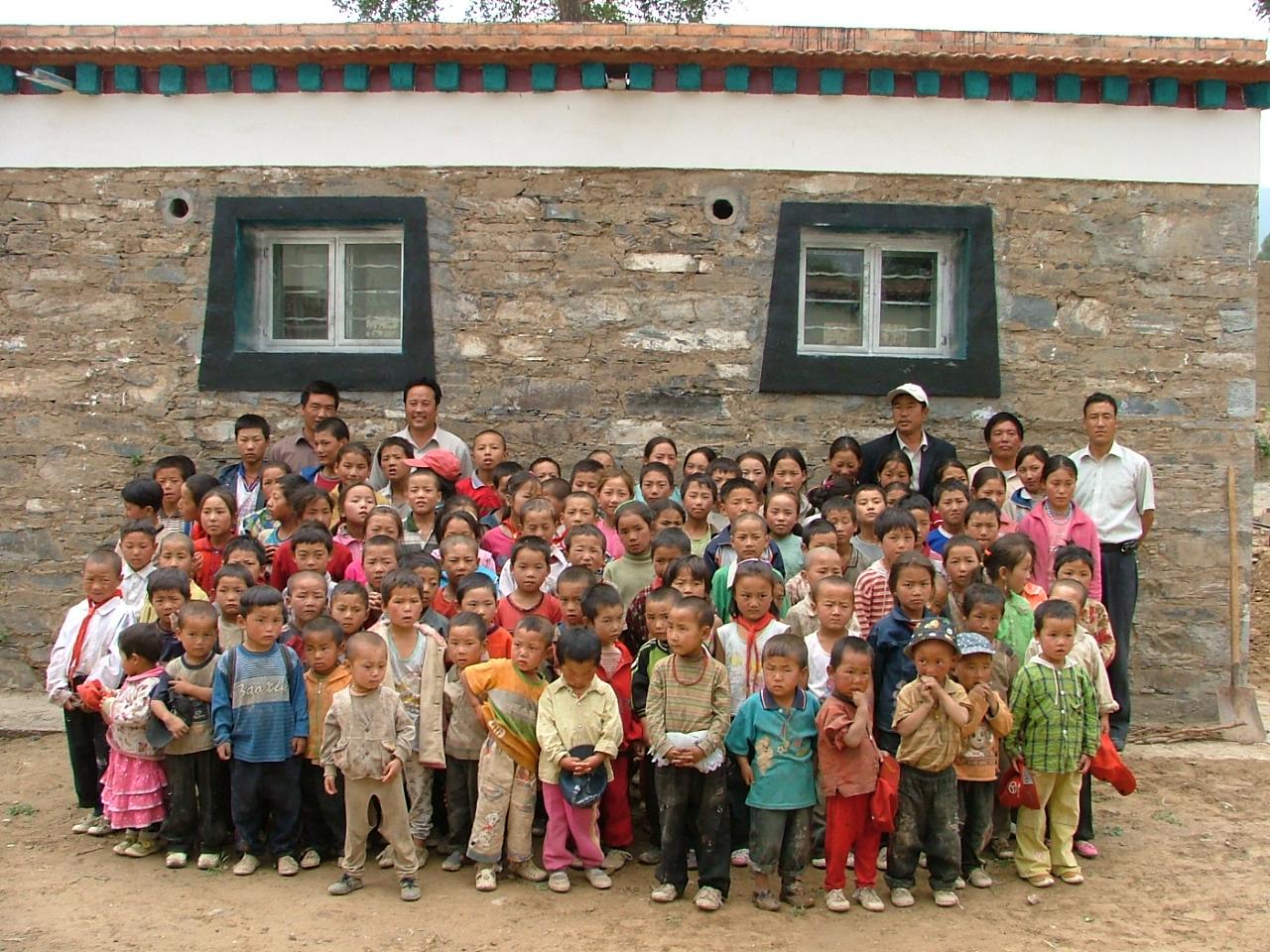 Tibetskí školáci