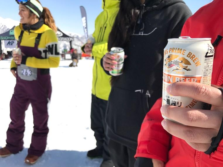 Tenjin Banked Slalom 2017 beer