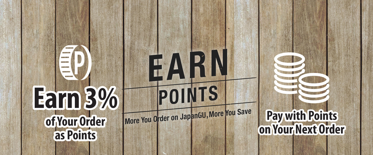 earn points by ordering Japanese food for takeout online