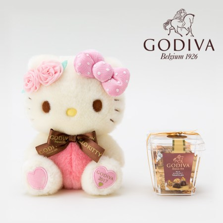 Hello Kitty Plush Doll & GODIVA Belgium Chocolate Set 2017 SANRIO JAPAN  For Sale - 01